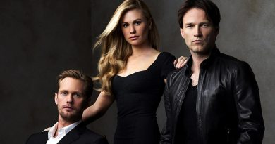 True Blood central characters Eric Northman, Sookie Stackhouse and Bill Compton