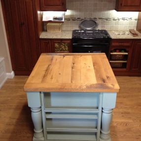 Custom Reclaimed Tables And Islands Bingham Lumber - Reclaimed oak table top