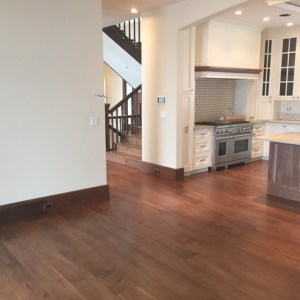 wide plank black walnut flooring