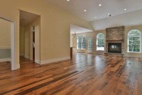 Reclaimed Culley Street flooring at a local residence in Brookline, NH.