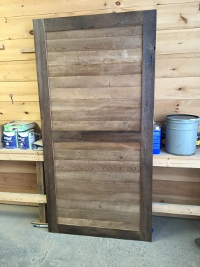 Reclaimed Bown Bard Stile and Rail Door