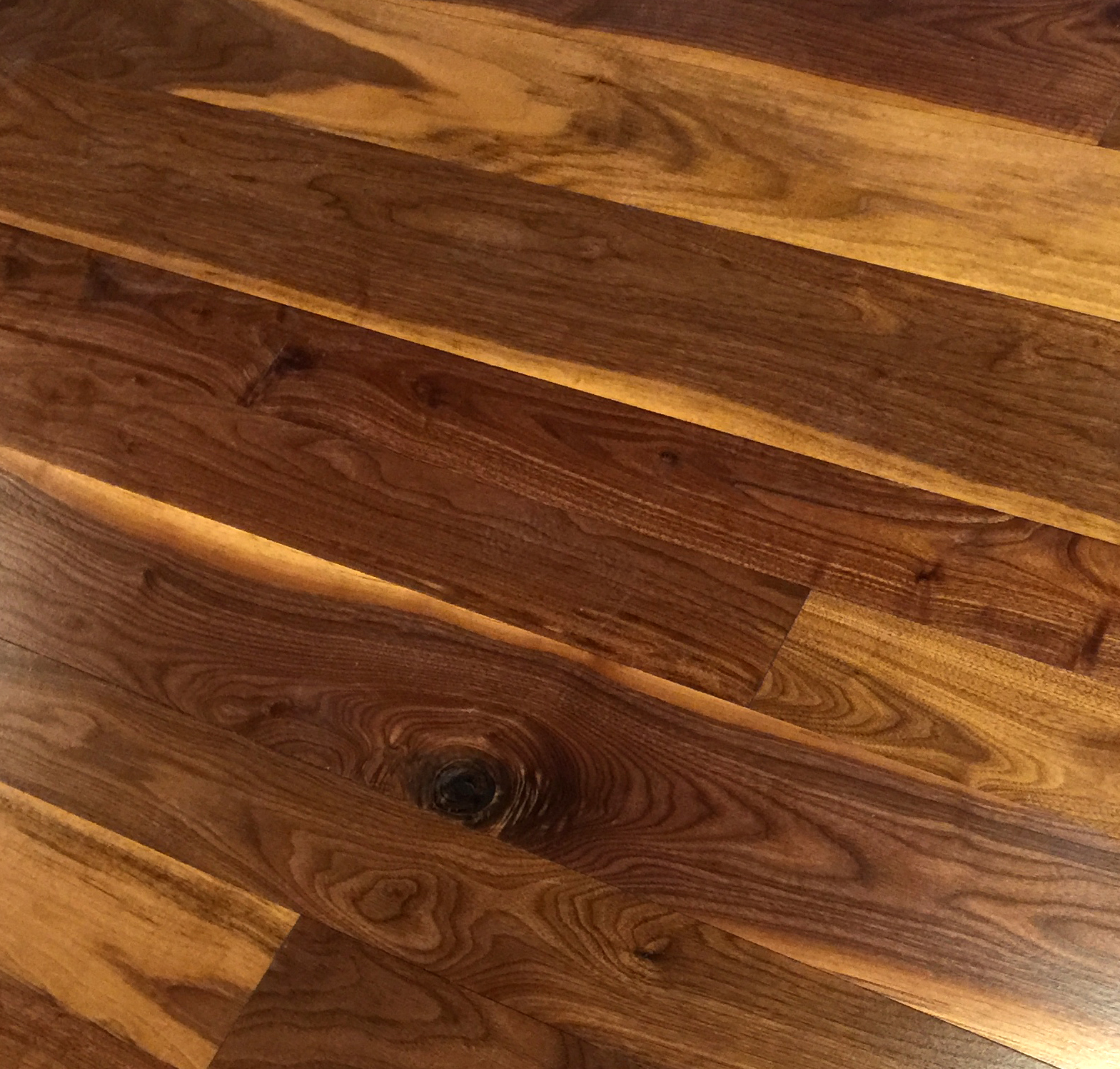Wide Plank Walnut Hardwood Flooring Part - 36: An Example Of Classic Plank Walnut Flooring With A Tung Oil Finish