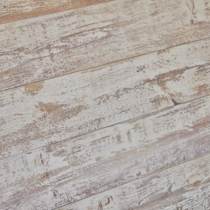 A Rustic but crisp finish on our shiplap paneling