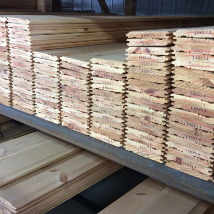 Eastern White Pine Paneling in a Pickwick Profile