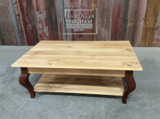 A smaller version of that Maple table the reclaimed pine is full of character.