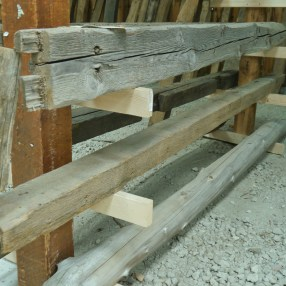 Antique Reclaimed Beams in our Reclaimed Salvange Annex
