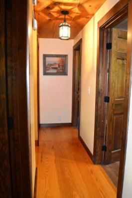 """Pre-Finished Classic Plank White Oak with a Saw Kerf Texture. This flooring was a custom 12""""width and while wide for the narrow hallways add's to the historic character of the home which the home owners are concerned with maintaining."""