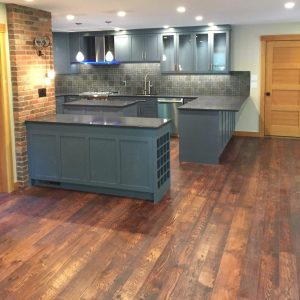 Classic Wide Plank Red Oak Flooring with a rough sawn and skip planed finish