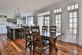 The South Face Oak Flooring is a beautiful complement to this contemporary Boston Home.