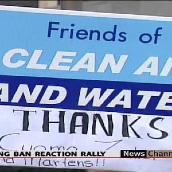 Fractivists rally after fracking ban_-8186731974993228222