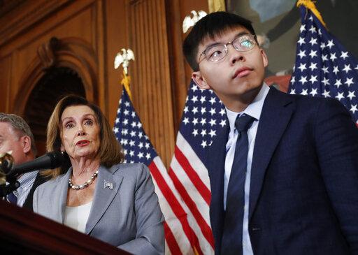 Nancy Pelosi, Joshua Wong, Denise Ho, Nathan Law,