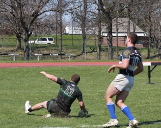 Matt Richards touches down his try against Buffalo