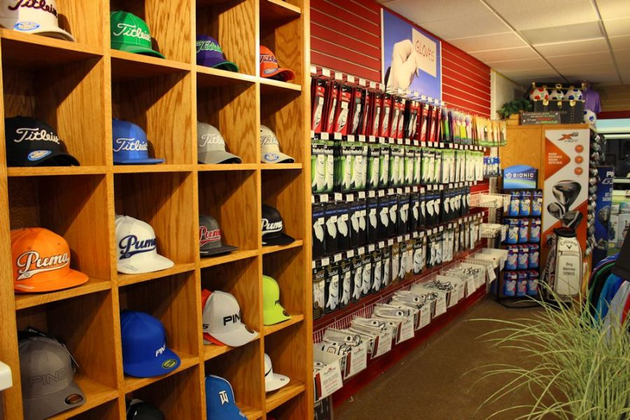 Golf Shop   Bing Maloney BingMaloney hats gloves2 The fully stocked golf shop includes