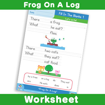 Frog On A Log - Fill In The Blanks 1