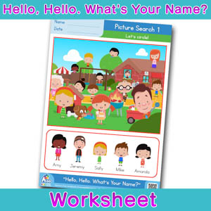 Hello Whats Your Name Worksheet picture search 1