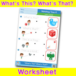 Whats this whats that worksheet matching time 4
