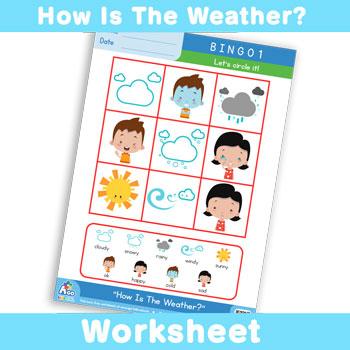 How Is The Weather? Worksheet - BINGO 1