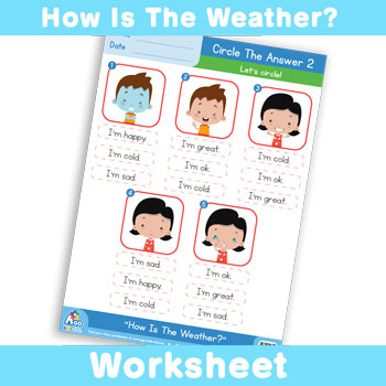 How Is The Weather? Worksheet - Circle The Answer 2