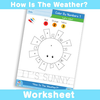 How Is The Weather Worksheet - Color By Numbers 1