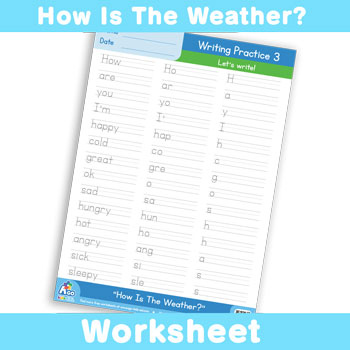 How Is The Weather? Worksheet - Writing Time 3