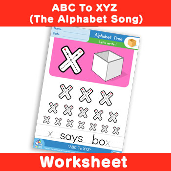 ABC To XYZ (The Alphabet Song) - Lowercase x