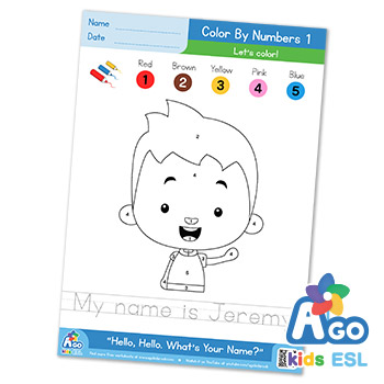 Hello What's Your Name ESL color by numbers 2