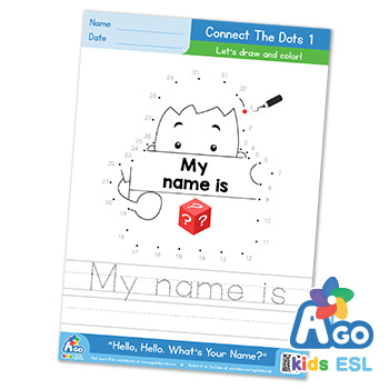 Hello What's Your Name ESL color by numbers
