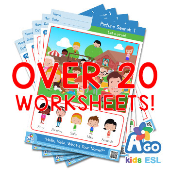 Hello What's Your Name ESL Worksheet pack