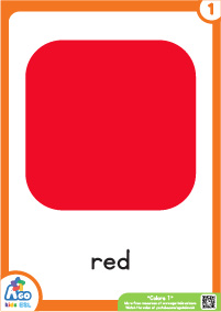 Colors Educational Flashcard Set - Red