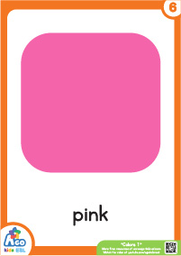 Colors Educational Flashcard Set - Pink