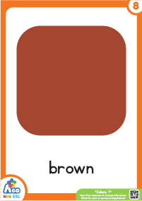 Colors Educational Flashcard Set - Brown