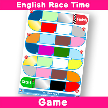 English-Race-Time---silver, gold, white, black, light blue, dark blue, light green, dark green and gray