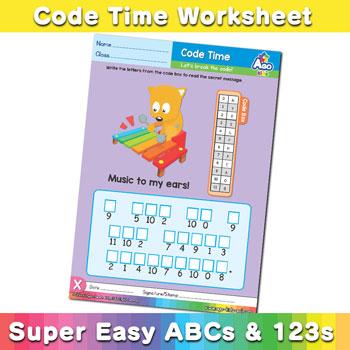 Alphabet ABC decoder worksheet x