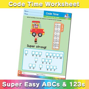 abc alphabet decoder worksheet C