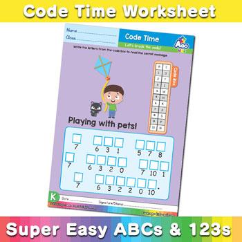 Alphabet ABC decoder worksheet k