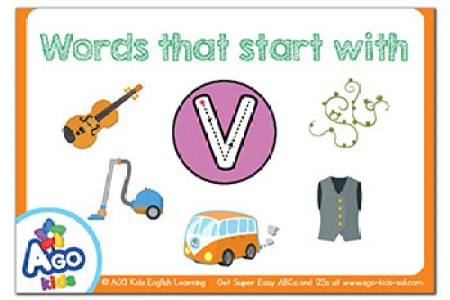 With Letter Things That Start Pictures Words Begin In Drawings Art Gallery Trace The V Coloring Page Twisty