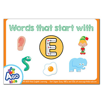 2 letter words with e free alphabet flashcards for words that start with the 20029 | FREE Alphabet Flashcards ABCs 123s AGO Kids ESL FUNbook 25
