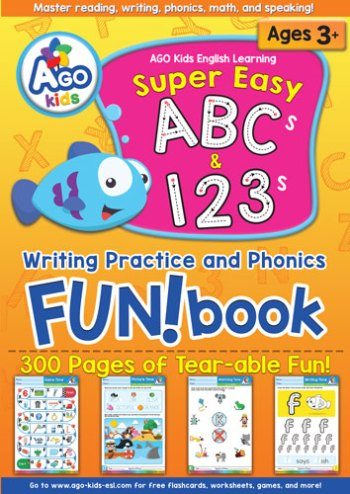 Super Easy ABCs and 123s Writing Practice and Phonics FUN!book