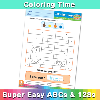 Coloring Time - Super-Easy-ABCs-and-123s