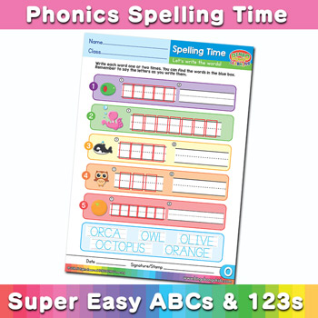 Phonics Spelling Worksheet Letter O