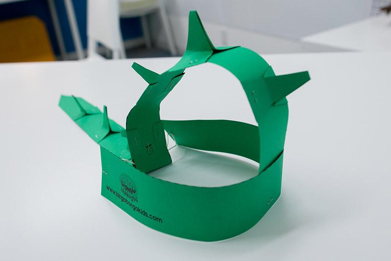 dinosaur paper hat craft diy
