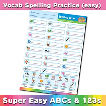 free esl spelling worksheet o p q