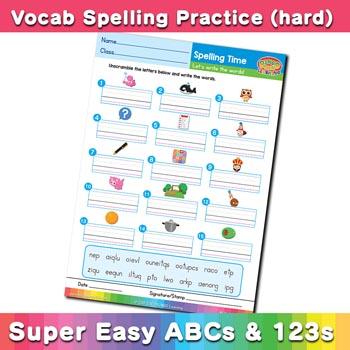 free esl spelling worksheet o p q