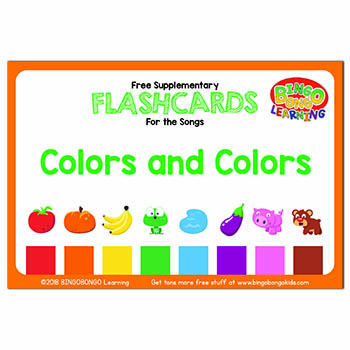 colors and colors flashcards set