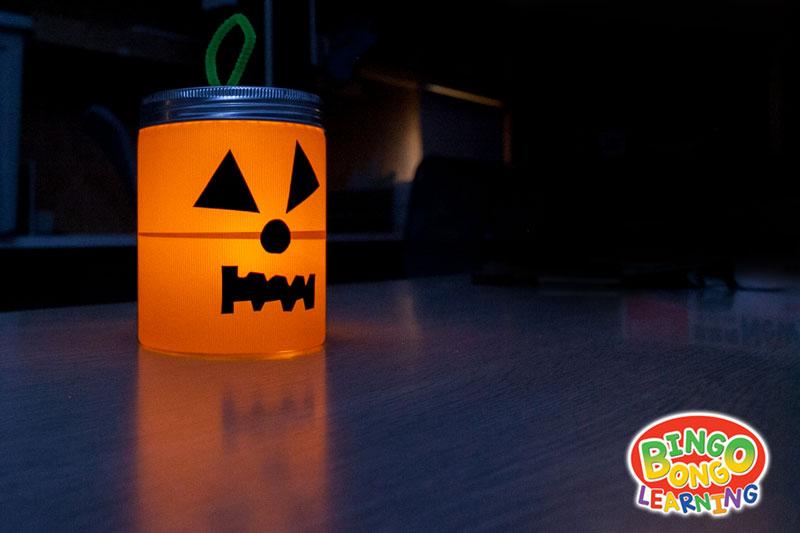 no mess kids' jack-o'-lantern