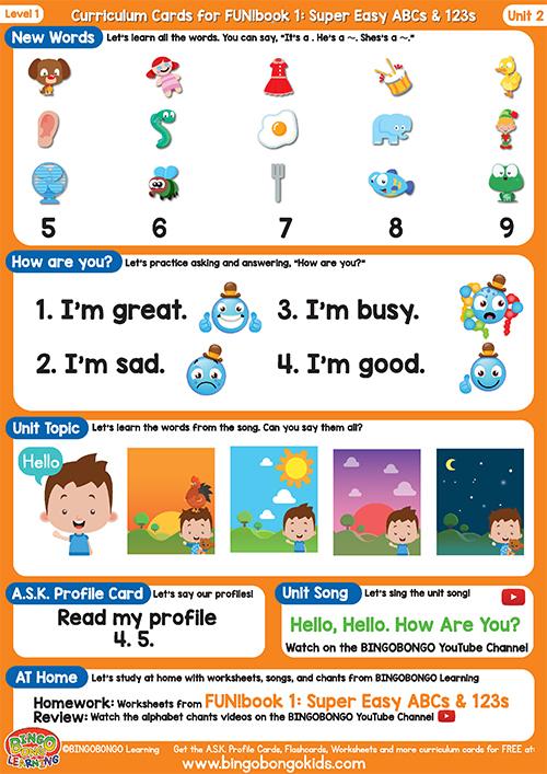 Curriculum Cards Level 1 (Orange) Unit (1)