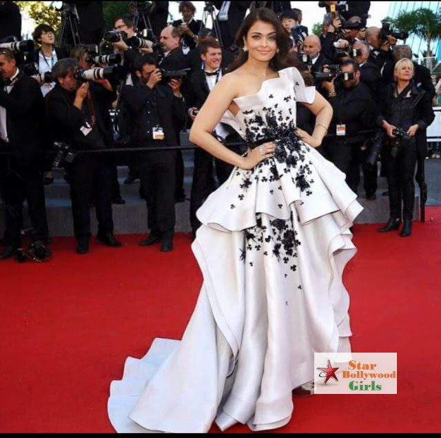 AISHWARYA RAI STUNS AT THE CANNES IN WHITE RALPH & RUSSO GOWN