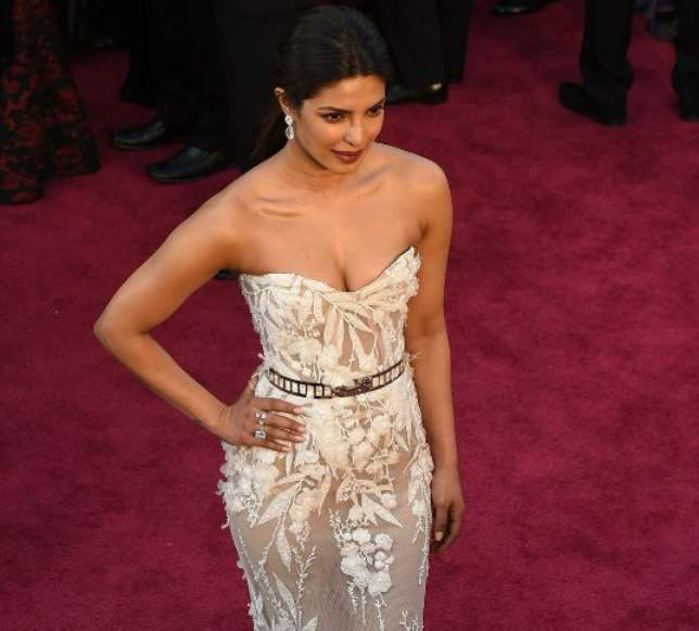 Hey Priyanka Chopra! Alexandra Daddario has The Rock's back