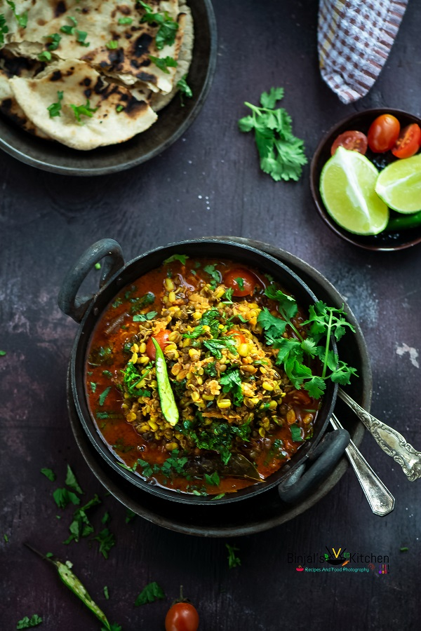 Sprouted Moong Curry