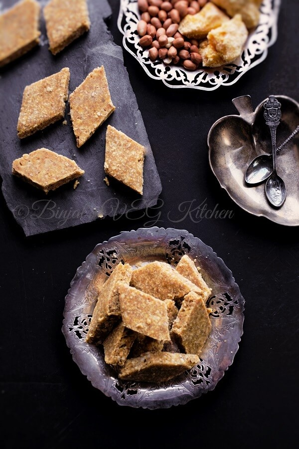 Peanut Flax Seeds Powder Bar Chikki Photography